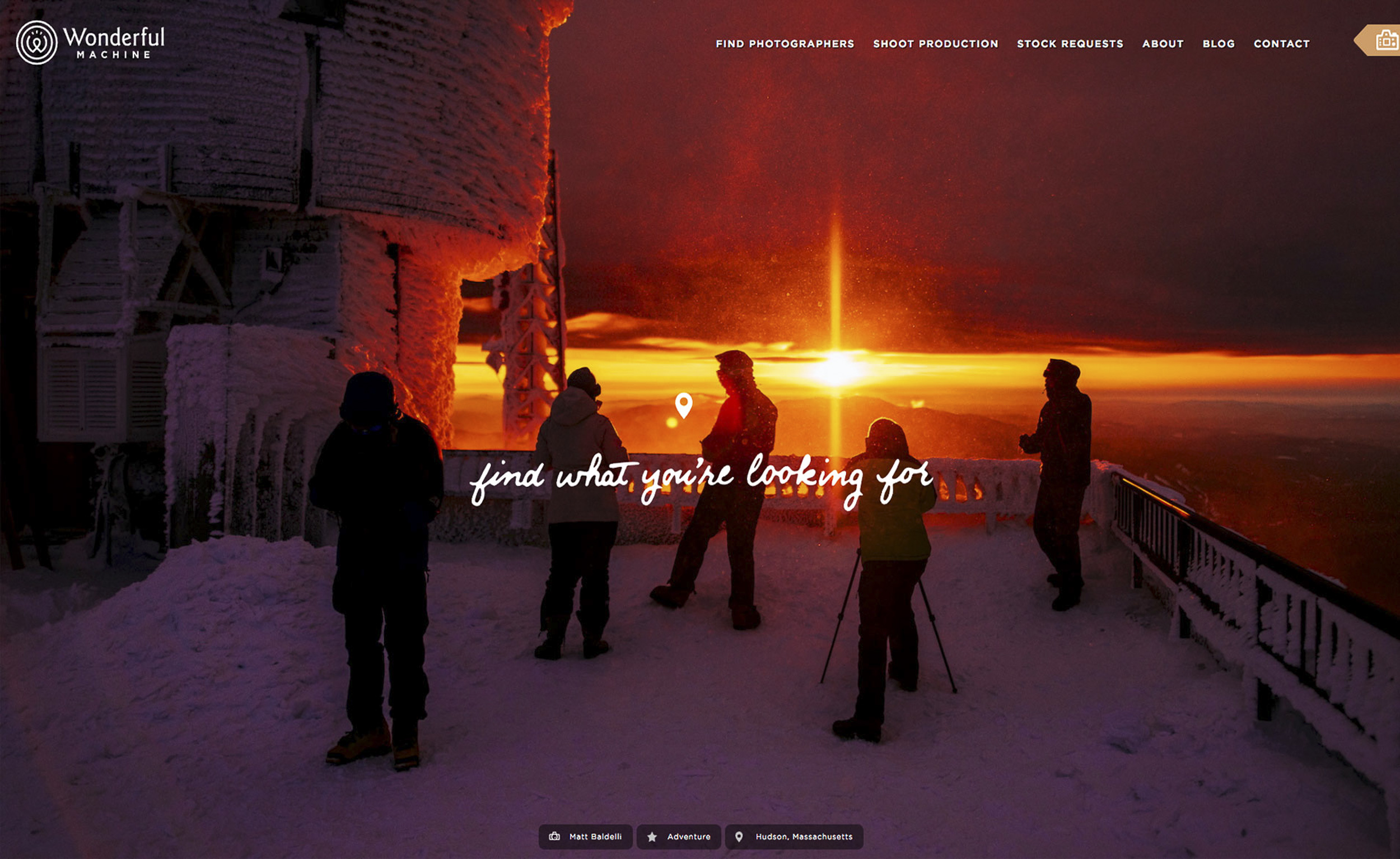 Wonderful-Machine-Homepage-Sunset